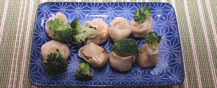 Broccoli & Egg Umbrella Dumplings