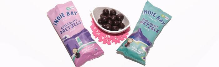 Indie Bay Snacks Dark and Milk Chocolate Pretzels Bites