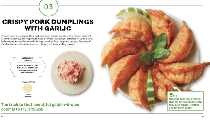 crispy pork dumplings with garlic