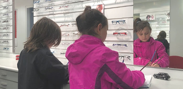 visiting the optometrist