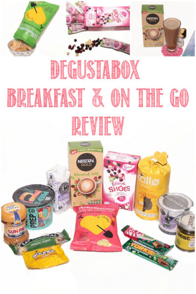 Degustabox Breakfast and on the go Review by Castle View Academy homeschool
