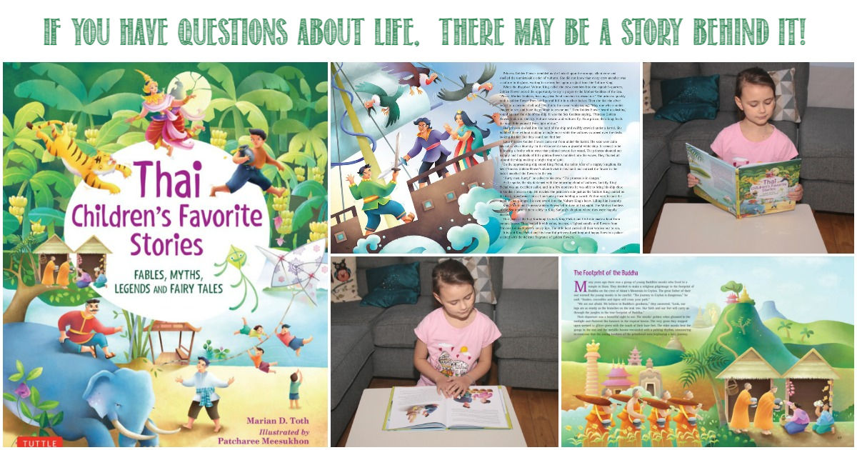 The stories behind the questions - Thai Children's Favorite Stories reviewed by Castle View Academy Homeschool