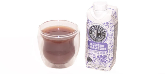crafted fruit juice drink