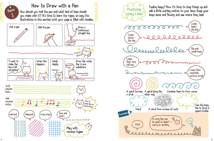 how to doodle with a pen