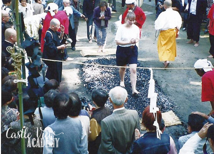 Hi-watari firewalking is a unique Japanese experience