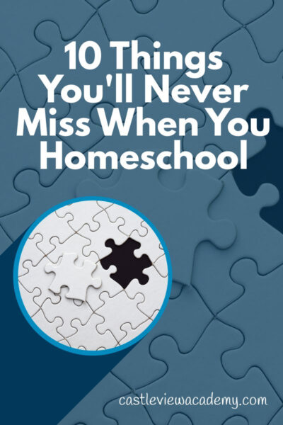10 Things You'll Never Miss When You Home educate