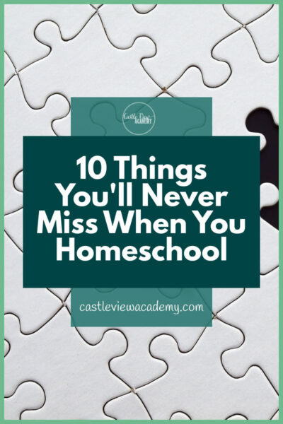 10 Things You'll Never Miss When You Homeschool