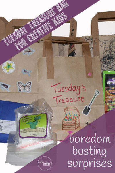 Boredom busting surprise activity bags for creative kids