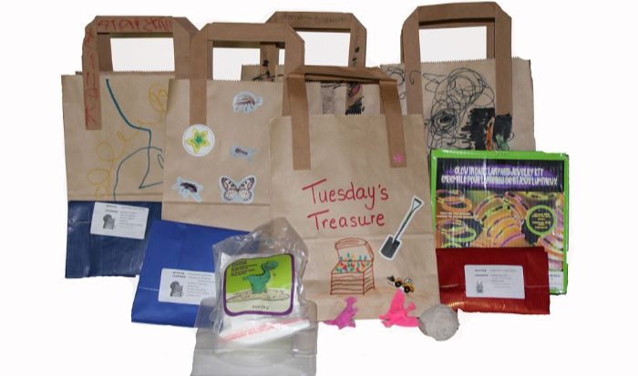 Boredom busting surprise activity bags