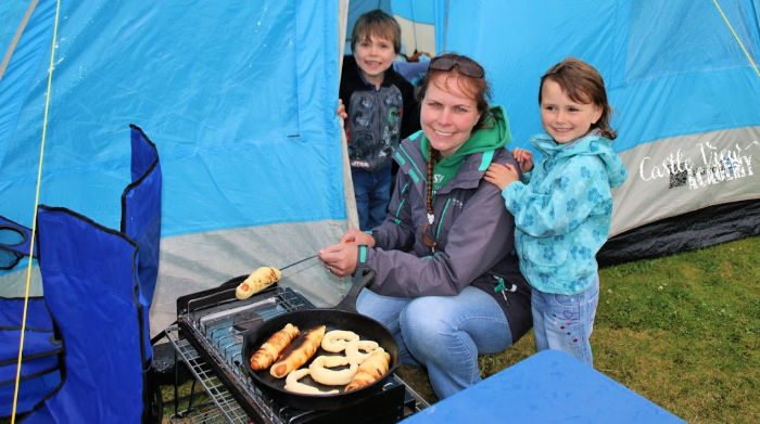 Campfire cooking with Castle View Academy