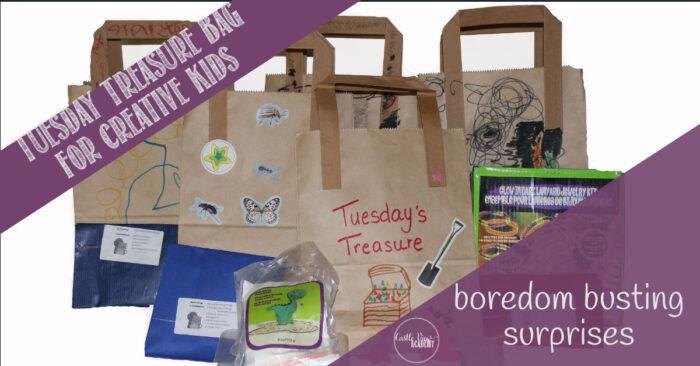 Tuesday Treasure bags for bored kids