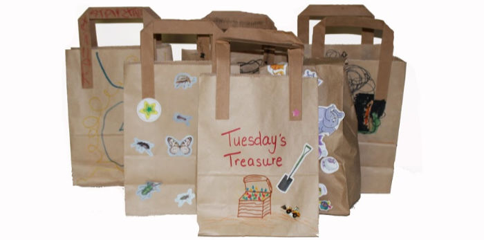 Tuesday Treasure bags ready for boredom busting