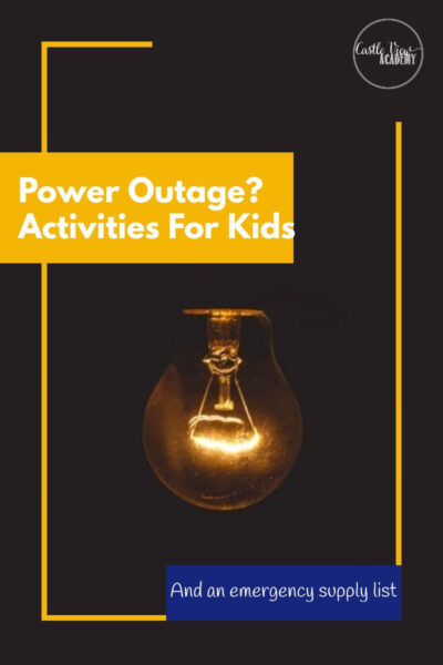 Power Outage - Activities For Kids