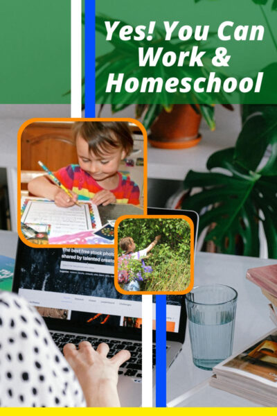 Yes, you can work and homeschool
