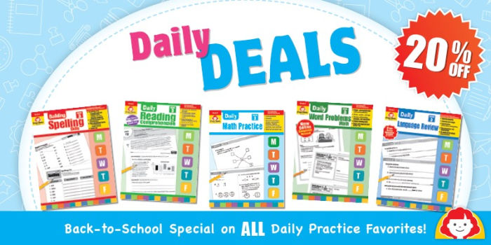 Evan-Moor daily specials