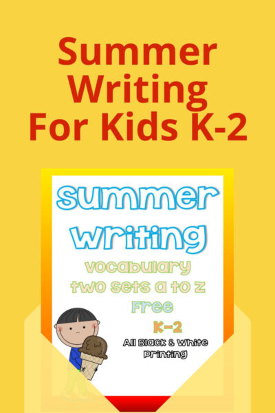 Summer Writing Activity For Kids K-2