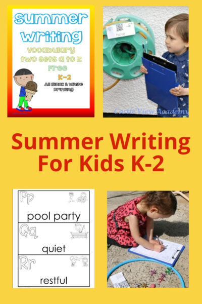 Summer Writing For Kids K-2