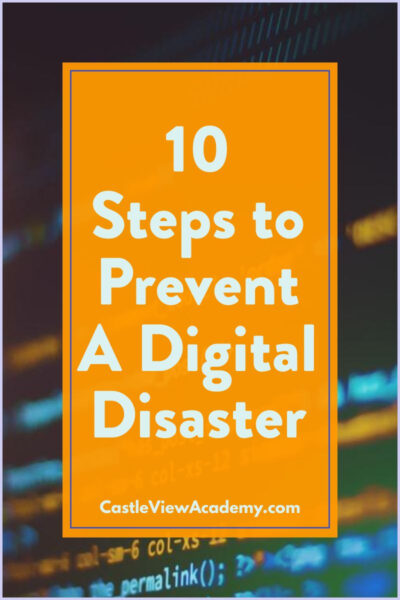 10 Steps to Prevent A Digital Disaster
