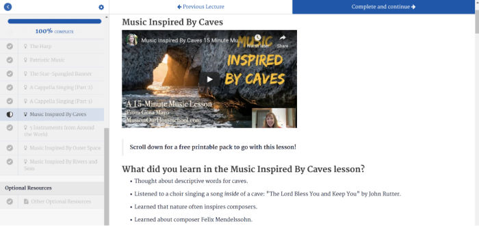 Music inspired by caves