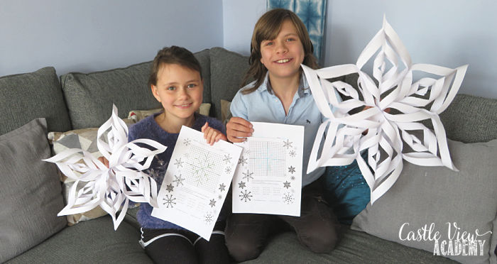 Paper Snowflakes at Castle View Academy