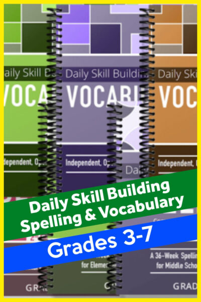Daily Vocabulary and Spelling for Homeschoolers grade 3-7