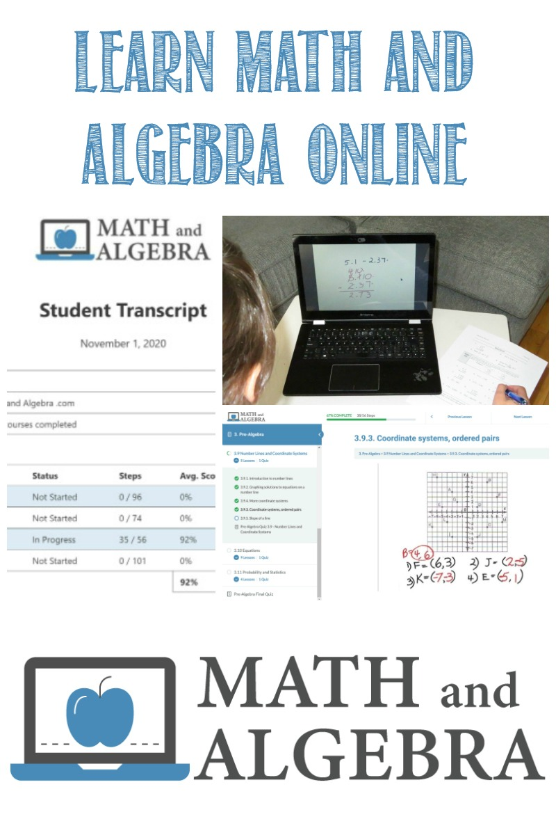 Learn Math and Algebra Online, a review by Castle View Academy