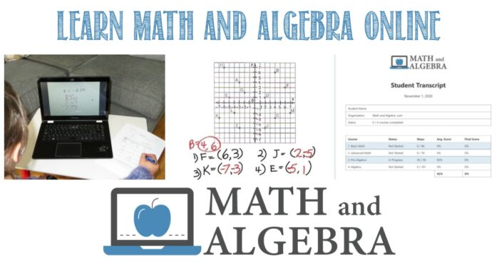 Learn math and algebra online A review by Castle View Academy homeschool