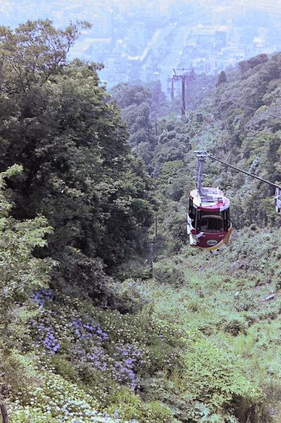 Mt Bizan Ropeway; things to do in Shikoku with kids