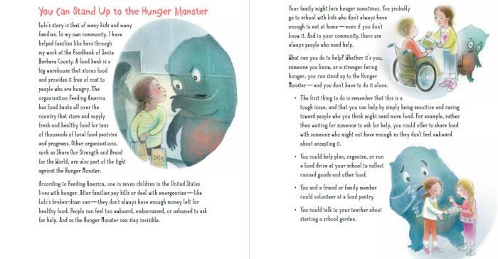 Stand up to the hunger monster, food literacy for kids