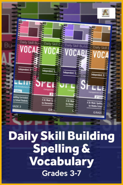 Vocabulary and Spelling for Homeschoolers grade 3-7
