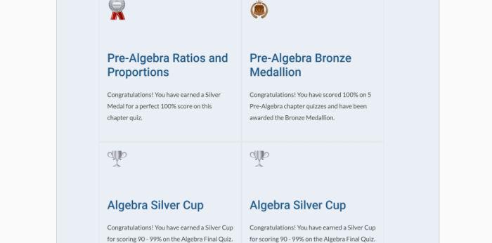 algebra awards