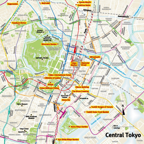 Central Tokyo Map