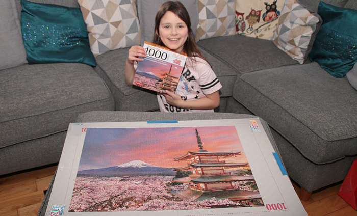 Complete jigsaw puzzle of Fuji-san