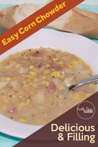 Easy Corn Chowder With Smoky Bacon
