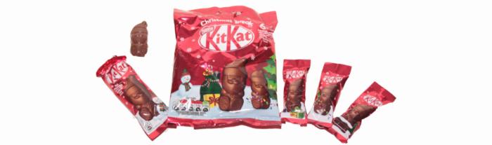 KIT KAT Individual Santa, and 66g mini Santa bag
