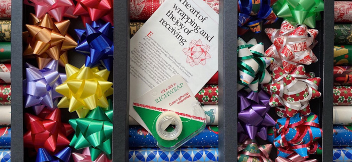 gift wrap and bows
