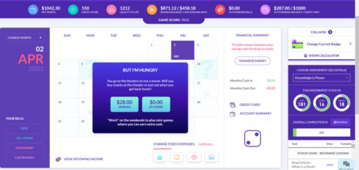 Budget Game choice to make