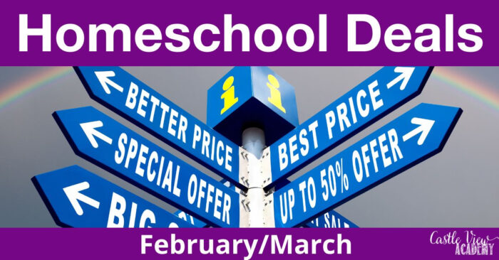 Homeschool Deals February and March