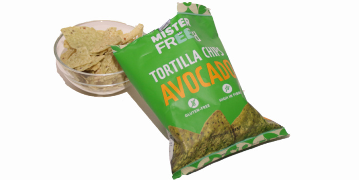 Mister Freed Avocado Tortilla Chips in on the go Degusta Box