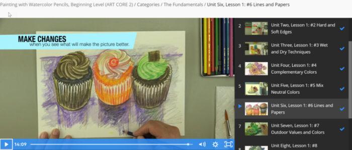 Watercolour Pencils Online Video Lesson