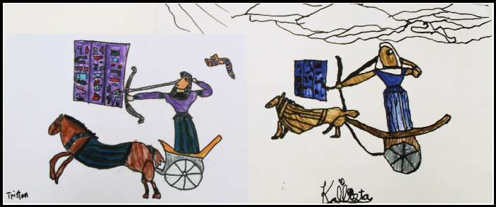 Egyptian Period - The Royal Hunt (Colored Marker), art history projects