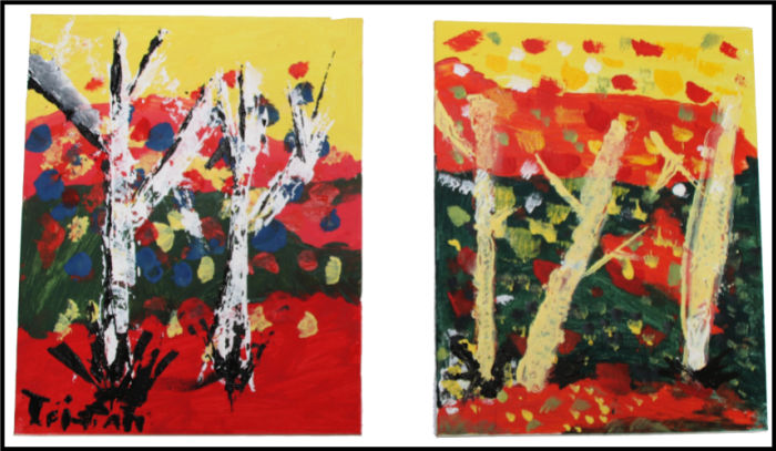 Impressionism Period - Birch Trees (Acrylic Painting), art history projects