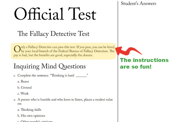 Official Fallacy Test